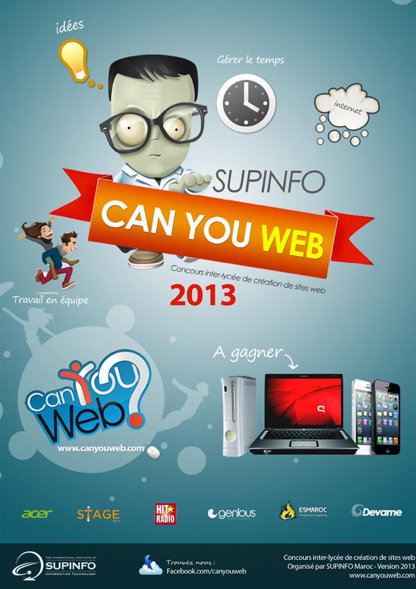 concours canyouweb   du 9 au 23 mars  u00e0 supinfo casablanca