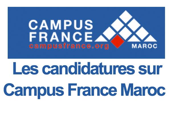 les candidatures sur campus france maroc 2015    2016