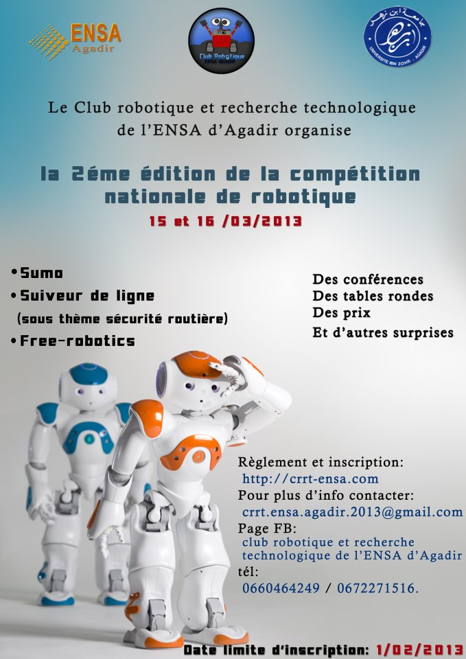 2 u00e8me comp u00e9tition nationale de robotique