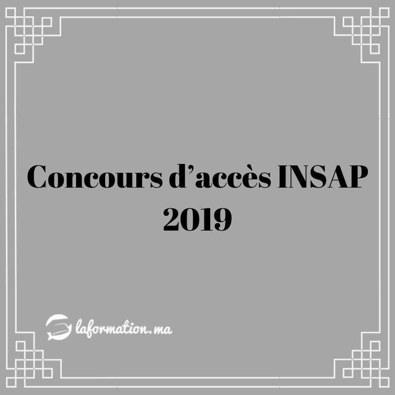 concours d u2019acc u00e8s insap 2019