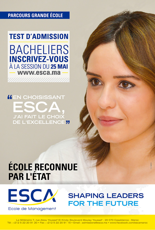 test Esca ecole de management 2017