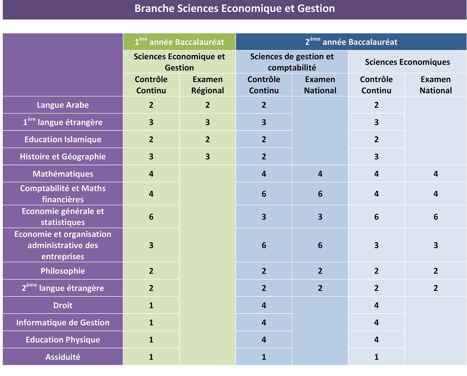 bac sciences economique et gestion